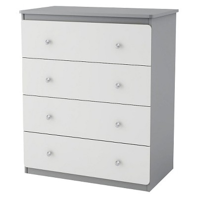 Cosco Willow Lake 4 Drawer Dresser - Light Slate Gray/White