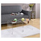 Acrylic Cocktail Tables (Set of 2) - Fox Hill Trading