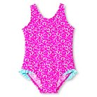 Baby Girls' Just One You™ Made by Carter's® Hearts Ruffled One-Piece Swimsuit Pink Lilac 12M