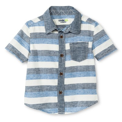 Baby Boys' Button Down Shirt - Blue 12M - Genuine Kids™ from OshKosh®