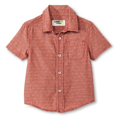 Baby Boys' Button Down Shirt - Copper Red 12M - Genuine Kids™ from OshKosh®
