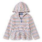 Toddler Girls' Striped Peplum Ruffle Hoodie Blue 2T - Circo™