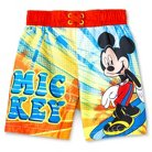 Disney Mickey Mouse Toddler Boys' Swim Trunk - Red 4T