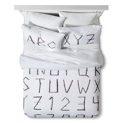 ABC Twigs Print Duvet Set Twin White 2pc - Still by Mary Jo™
