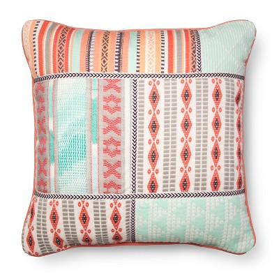 Embroidered Decorative Pillow Mint&Pink - Xhilaration™