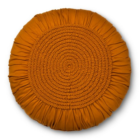 Throw Pillow Round : Round Decorative Pillow Gold&Tan - Xhilaration : Target