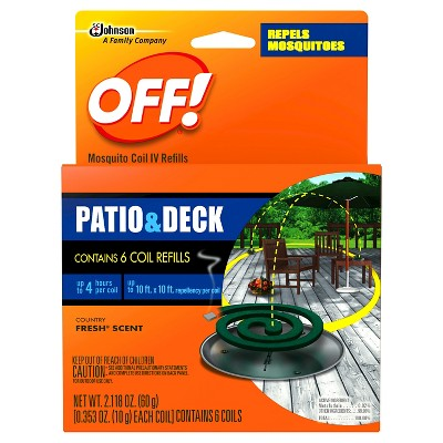 Off Patio & Desk Mosquito Coil Refills - 6 Count