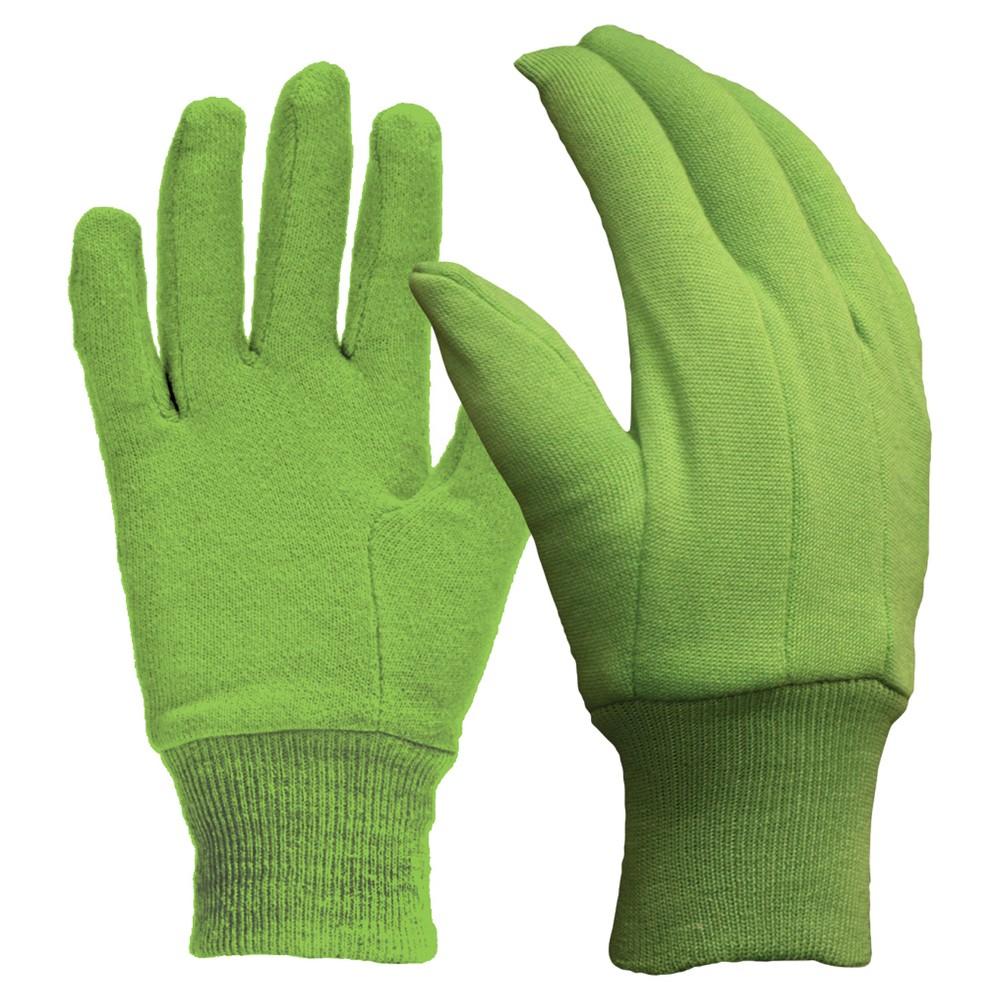 Digz Women's Cotton Jersey Gloves - Medium, Green