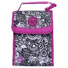 Double Dutch Club Lunch Tote - Black/Purple Print