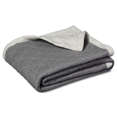 Jersey Throw Blanket Gray - Room Essentials ™