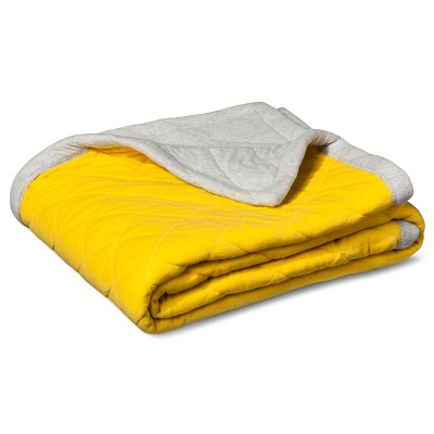 Jersey Throw Blanket Yellow - Room Essentials ™