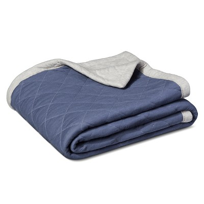 Jersey Throw Blanket Blue - Room Essentials ™