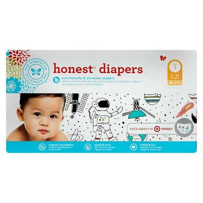 Honest Company Diapers Space Travel - Size 1 (80 Count)