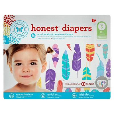 Honest Company Diapers Painted Feather - Size 5 (50 Count)