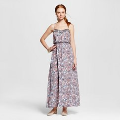 Women's Printed Maxi Dress Powder - 3Hearts (Juniors')