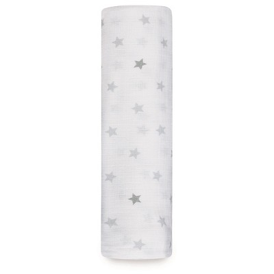 Swaddle Wrap Aden + Anais White Grey