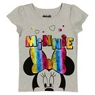 Minnie Mouse Toddler Girls' Short Sleeve Tee 2T - Gray