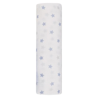 Swaddle Wrap Aden + Anais White Sky Blue Grey