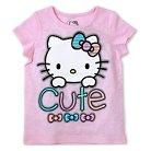 Hello Kitty Toddler Girls' Short Sleeve Tee - Pink 2T