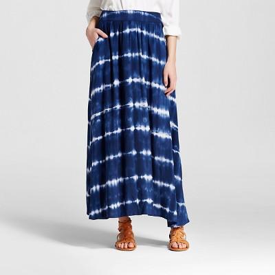 Women's Tie Dye Maxi Skirt Navy M - Merona™