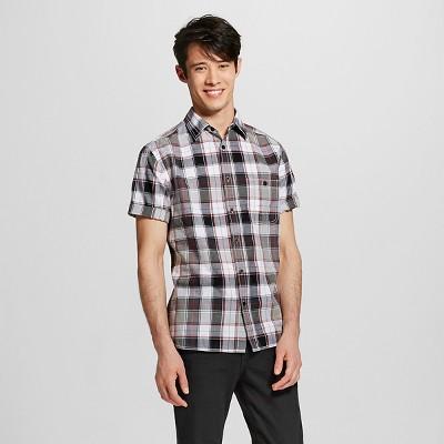 Men's Short Sleeve Shirt Black Plaid M - Mossimo Supply Co.