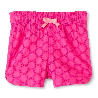 Baby Girls' Eyelet Short Pink 12M - Cherokee®