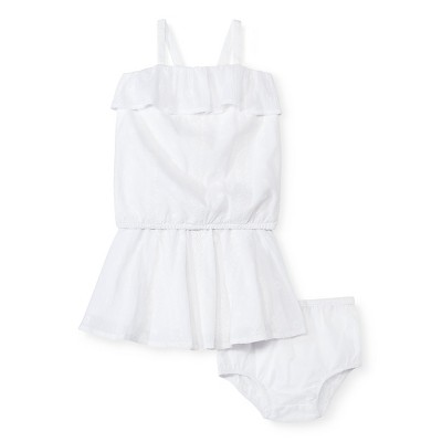 Baby Girls' Eyelet Top and Skirt Set White 12M - Genuine Kids from Oshkosh™