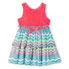 Pinky Toddler Girls' Sleeveless Zig Zag Dress - Multicolored 2T