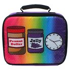 EmojiNation Cafeteria Peanut & Jelly Insulated Lunch Bag - Purple Sequins