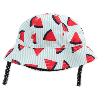 Baby Girls' Watermelon/Stripe/Dot Reversible Bucket Hat Blue/Red/White 12-18M - Circo™