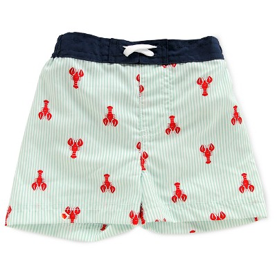Baby Boys' Lobster Print Activewear Swim Bottom Blue/Red 3-6M - Circo™