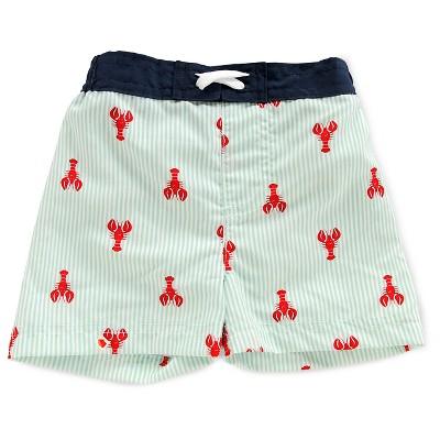 Baby Boys' Lobster Print Activewear Swim Bottom Blue/Red 3-6M - Circo™