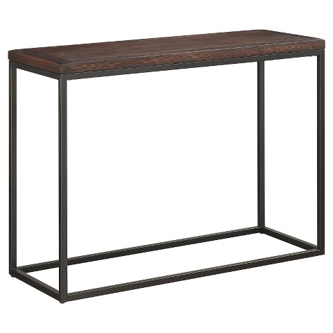 console table mixed material dark wood christop target