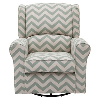 Delta Children Morgan Chevron Glider - Sage Chevron