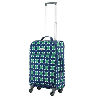 "Happy Chic by Jonathan Adler 21"" Carry On Luggage - Green/Navy Circles"