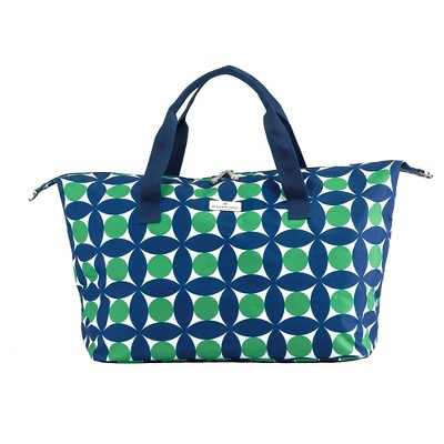 Happy Chic by Jonathan Adler Weekender Tote - Green/Navy Circles