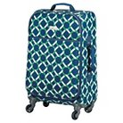 """Happy Chic by Jonathan Adler 21"""" Carry On Luggage - Green/Navy Lattice"""