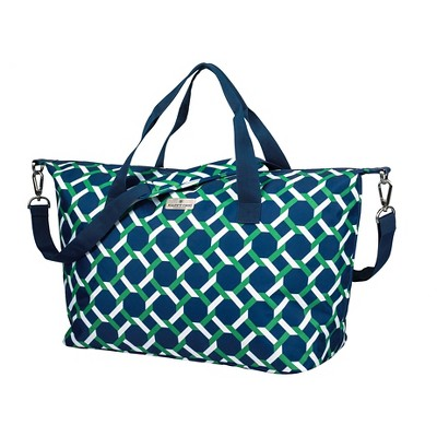 Happy Chic by Jonathan Adler Weekender Tote - Green/Navy Lattice