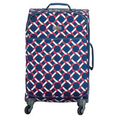 "Happy Chic by Jonathan Adler 21"" Carry On Luggage - Red/Navy Lattice"
