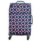 """Happy Chic by Jonathan Adler 21"""" Carry On Luggage - Red/Navy Lattice"""