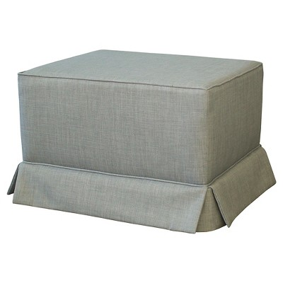 Little Castle Gliding Ottoman with Skirt - Flint Dove