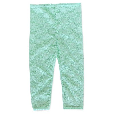 Baby Girls' Lace Footless Tights Blue 12-24 M - Cherokee®