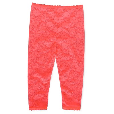 Baby Girls' Lace Footless Tights Pink 12-24 M - Cherokee®