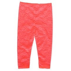 Girls' Lace Footless Tights Pink - Cherokee