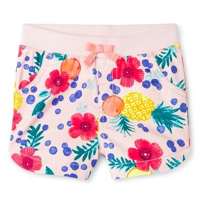Baby Girls' Tropical Short Pink 18M - Cherokee®