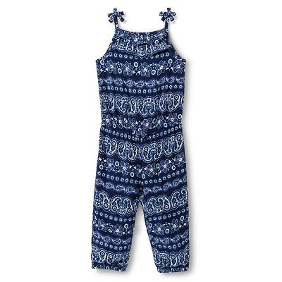Baby Girls' Floral Jumpsuit Navy Blue 12M - Genuine Kids from Oshkosh™