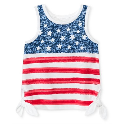 Baby Girls' Flag Mock Tie Tank Top White 12M - Genuine Kids from Oshkosh™