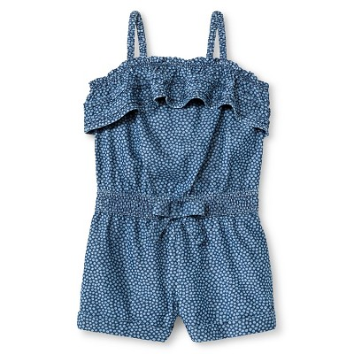 Baby Girls' Polka Dots Romper Blue 12M - Genuine Kids from Oshkosh™