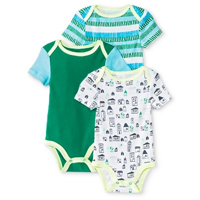 Oh Joy!® Newborn 3 Pack Bodysuit Set - City 3-6M