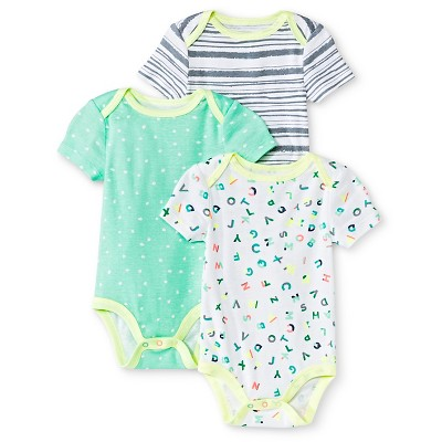 Oh Joy!® Newborn 3 Pack Bodysuit Set - ABC 0-3M